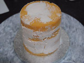 巧克力淋面蛋糕,盖上一层蛋糕片