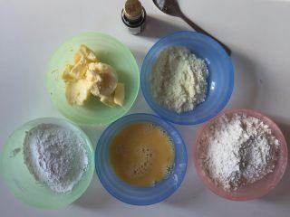 花样黄油曲奇,准备材料,黄油室温软化