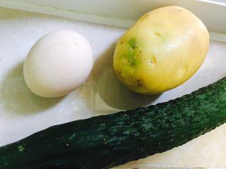 周末懒人版减肥快手早餐午餐晚餐,鸡蛋,黄瓜,土豆,一次洗干净备用,不用多啰嗦了吧