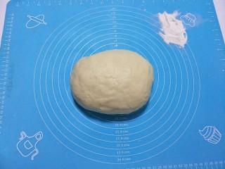 蜂蜜脆底小面包,盖上保鲜膜松弛15分钟。