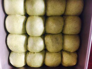 懒蛋蛋挤挤包,烤箱底放碗热水,30度发酵40分钟。