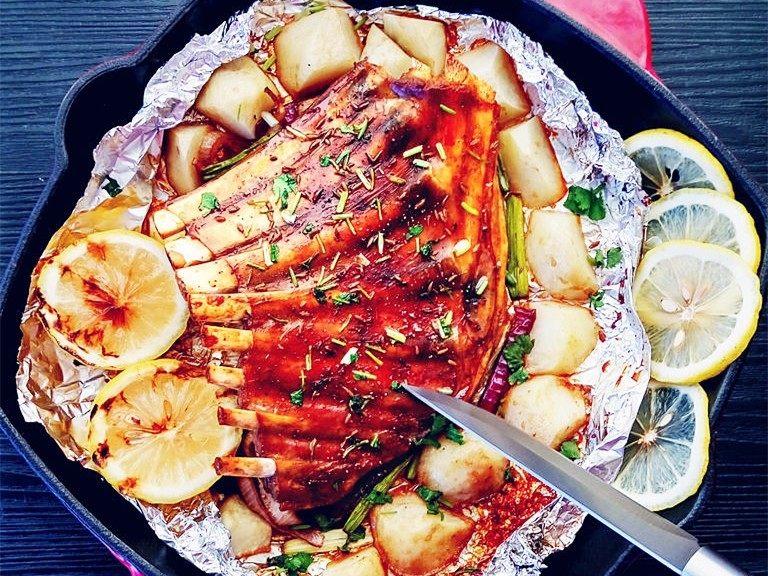 土豆烤羊排