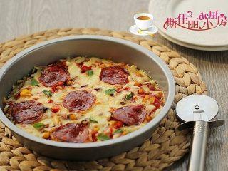 火腿杂蔬红薯披萨