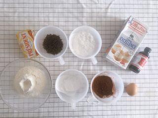 红丝绒巧克力软曲奇,准备所有材料,鸡蛋和淡奶油都必须是常温