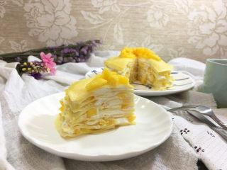 芒果千层蛋糕,成品图。
