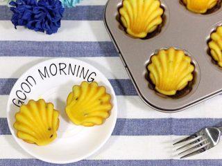 百香果玛德琳,当早餐或下午茶都是非常棒的选择。