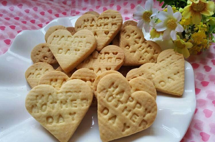 母亲节爱心饼干