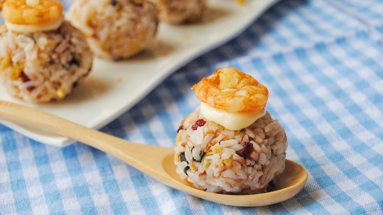 鲜虾沙拉饭团