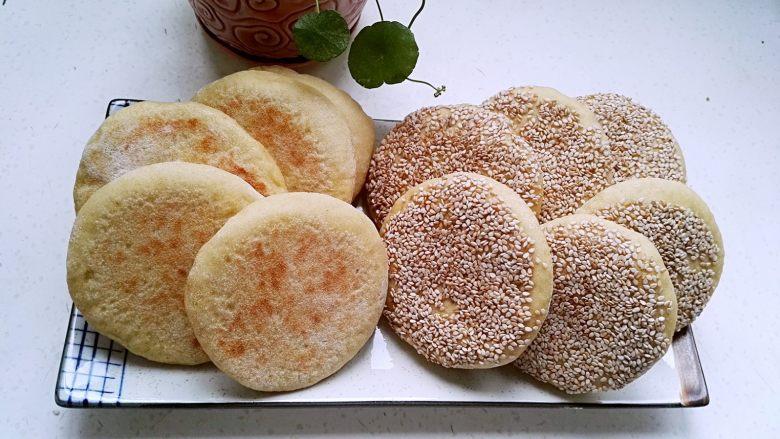 芝麻玉米面白糖饼