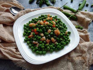蒜茸虾仁炒豌豆