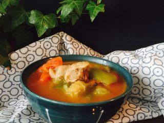 番茄丝瓜牛肉汤