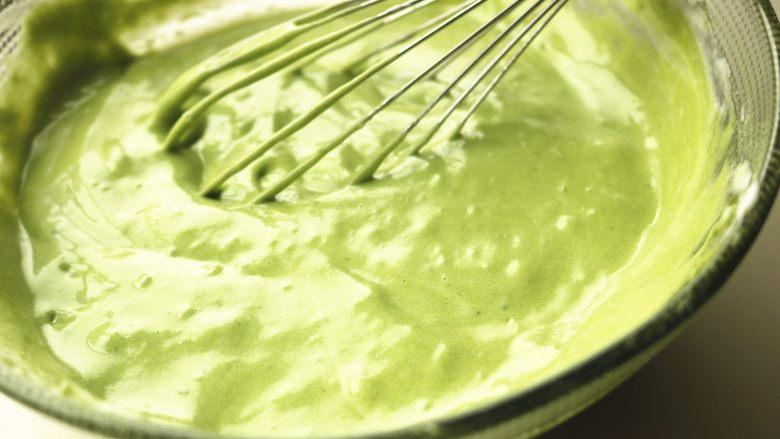 肉松蛋糕卷,翻拌均匀。