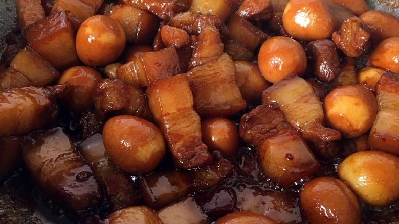 鹌鹑蛋烧肉,大火收汁二分钟