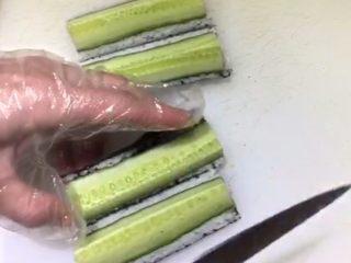 四喜寿司卷,横竖切开