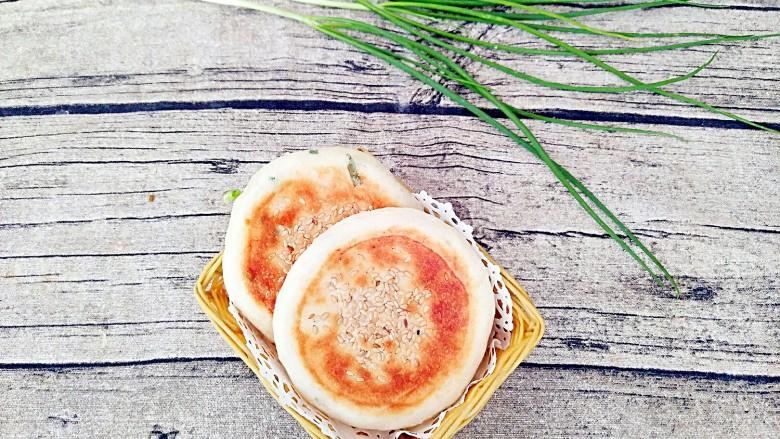 香葱芝麻油饼