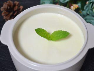 自制酸奶(奶粉版),成品。