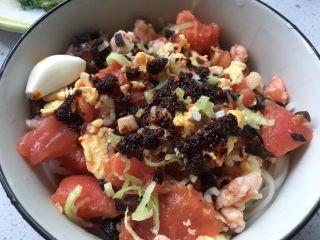 夏日凉拌面之海鲜西红柿卤