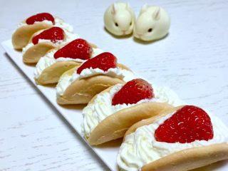 奶油小贝草莓🍓蛋糕,成品