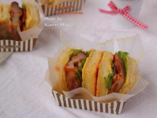 #吐司新吃法之一#新奥尔良三明治