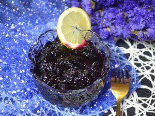 自制蓝莓酱,成品。
