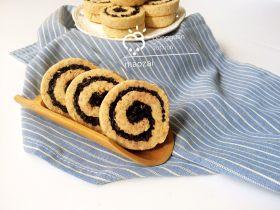 黑米年轮小卷饼干