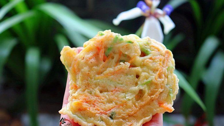 西葫芦鸡蛋煎饼,香喷喷外酥里嫩太好吃了