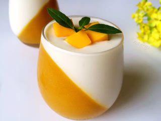芒果酸奶冻,成品。