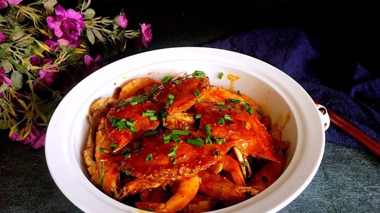肉蟹煲,成品图