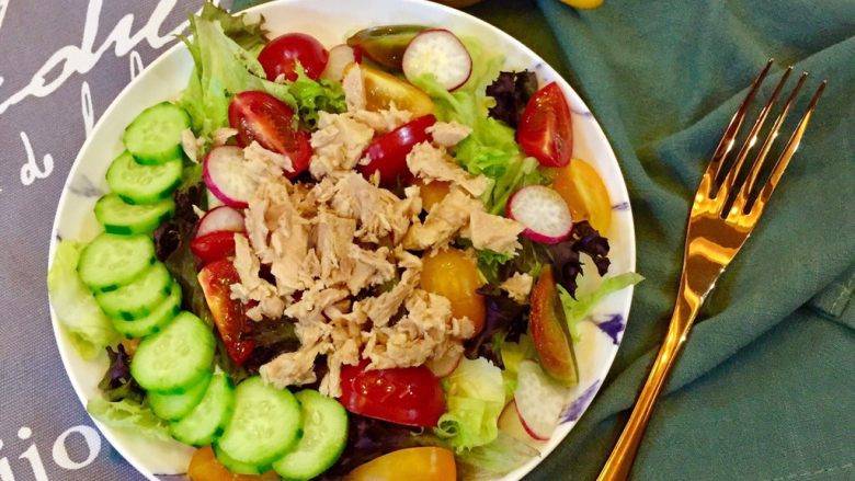 😋健康瘦身➕营养的吞拿鱼蔬菜沙拉