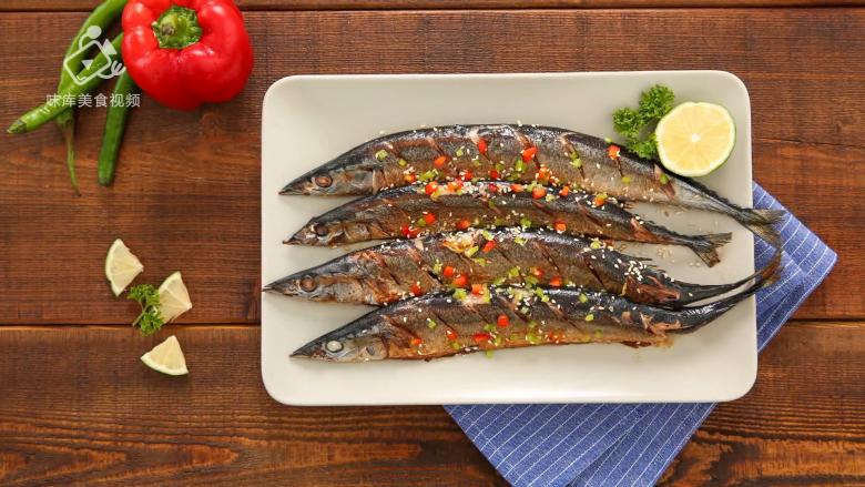 香煎秋刀鱼,在家也能做出的美味日料,成品展示