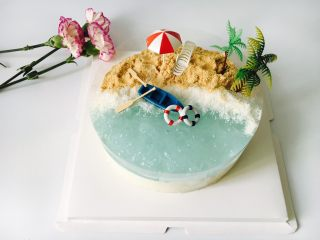 海洋椰风慕斯蛋糕