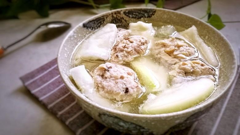 香菇肉滑蒲瓜汤