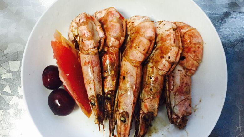 西柚遇见红虾(低脂盐烧虾)