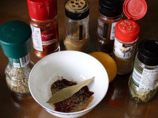 健康低热量披萨,{选择做或不做,不必要}在碗里加上一勺红辣椒粉,辣椒粉,姜粉和另外一些喜欢的香料