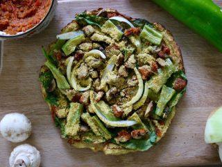 健康低热量披萨,完成