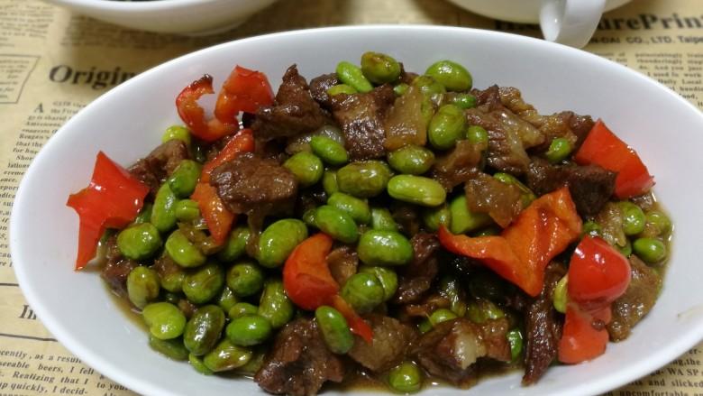 毛豆米炒肉丁
