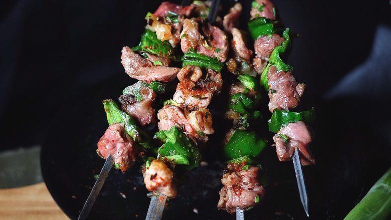 超好吃的烤肉配方 青椒烤羊肉/小羊排