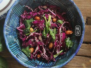 凉拌紫甘蓝,搅拌均匀即可装碗开吃啦!