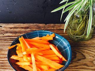 爱心早餐3,胡萝卜半个切丝