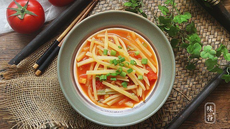酸爽下饭的茄汁土豆丝
