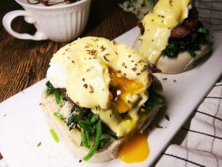 馒头版班尼迪克蛋brunch(附水波蛋做法),yummy