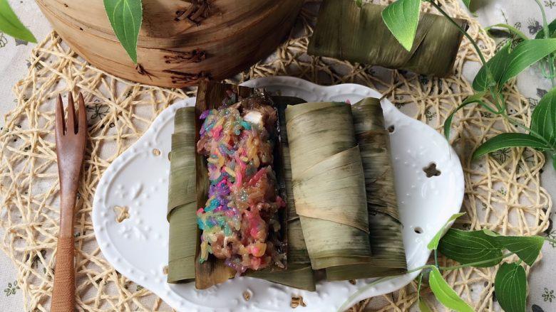 五彩糯米排骨卷