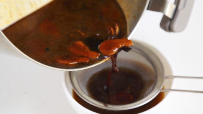 卤鸭, 11.过滤掉渣子,酱汁留用。