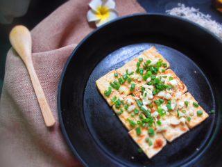 香煎豆腐,豆腐可以预防和抵制骨质疏松症