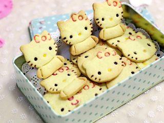 hellokitty饼干,和孩子一起动手试试吧!