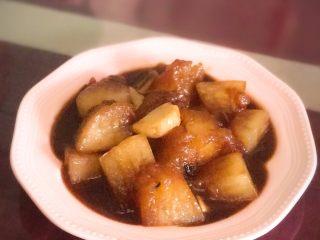 耗油烧冬瓜,出锅装盘,好吃入味