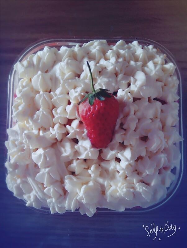 美美的草莓盒子蛋糕