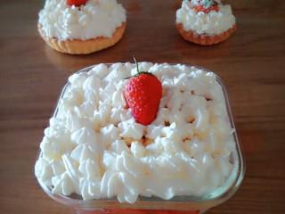 美美的草莓盒子蛋糕,美美的盒子蛋糕做好了