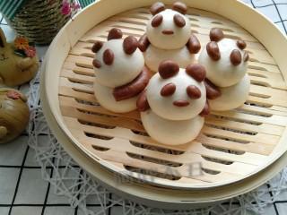 熊猫花样面食,胖胖的熊猫来啦。