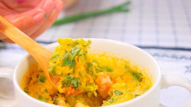 鸡蛋虾肉南瓜杯